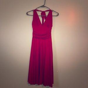 Forever red halter dress
